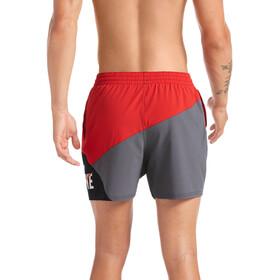 "Nike Swim Logo Jackknife 5"" Shorts Volley Hombre, gris/rojo"